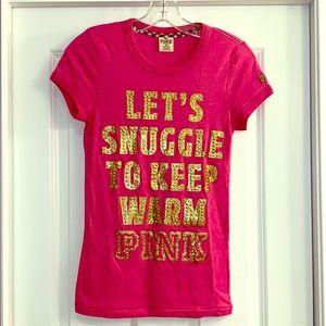 Victoria's Secret PINK bling tee - XS